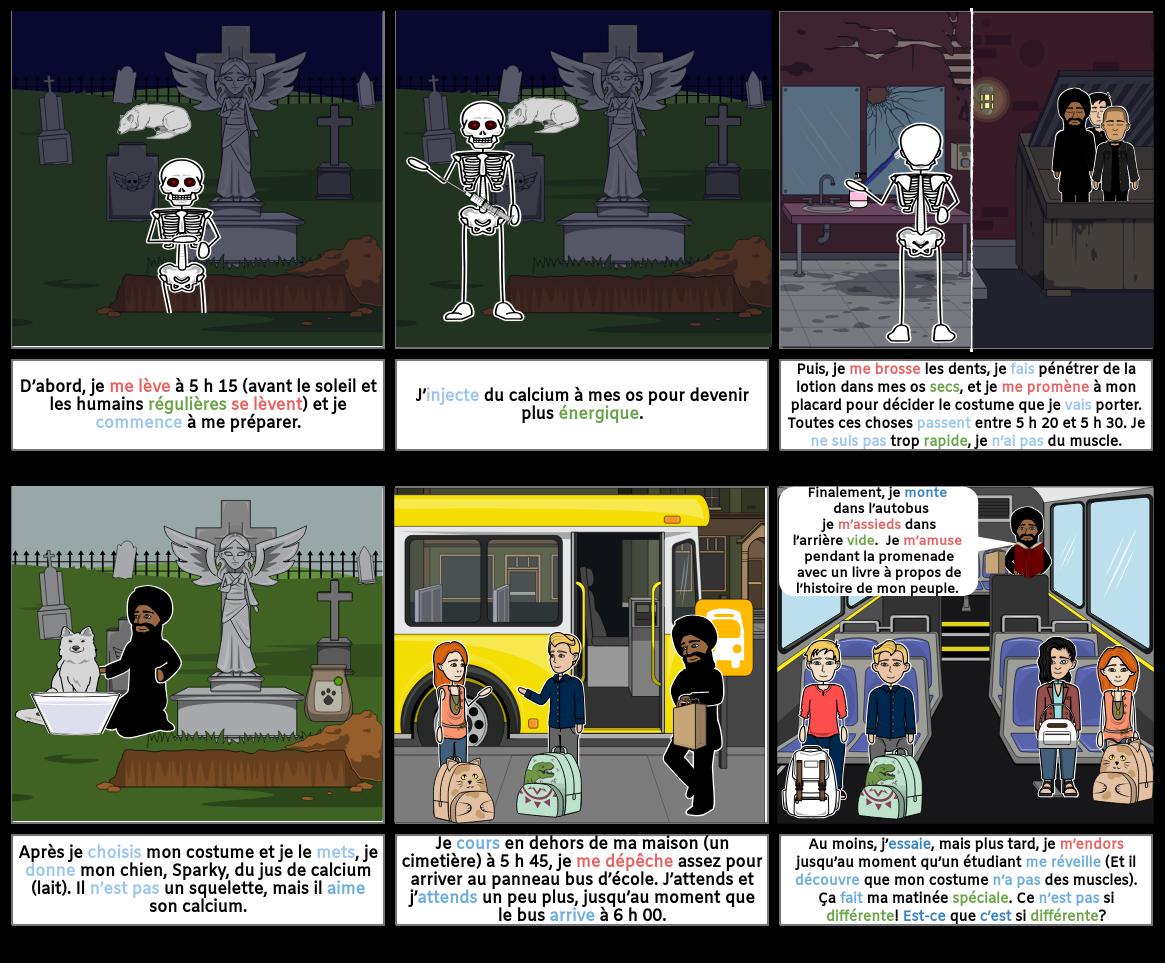 Une journée Dans La Vie D'Un Squelette
