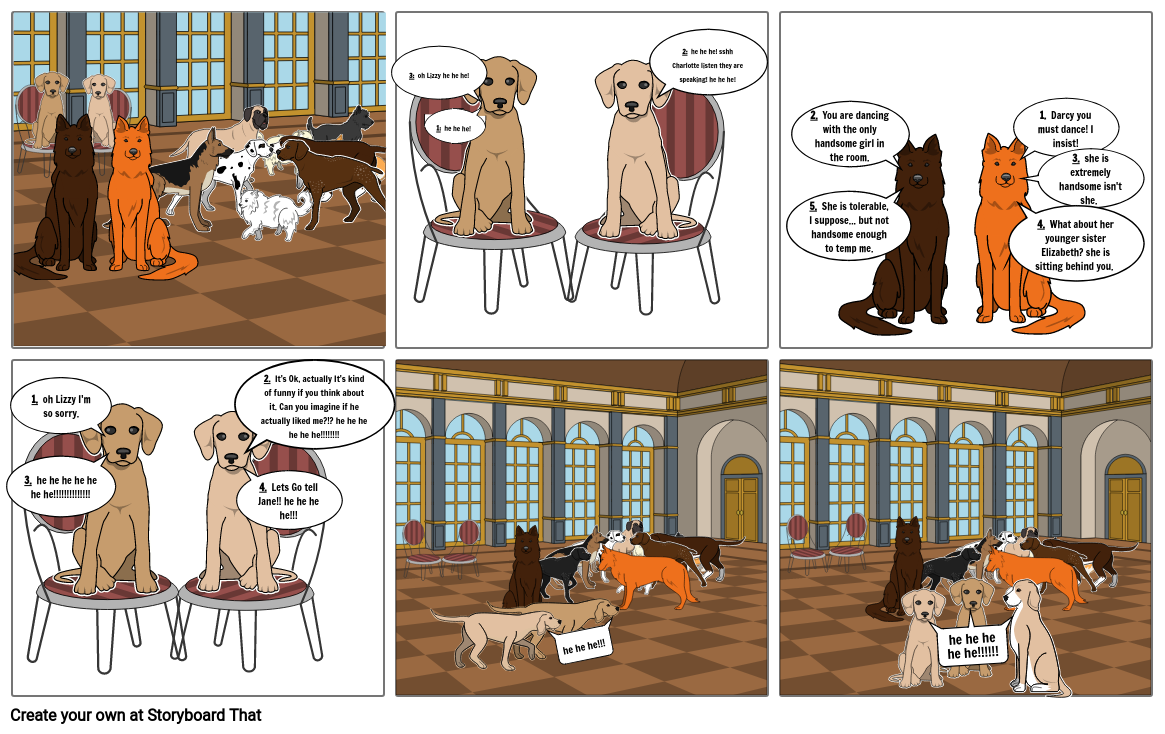 pride and prejudice as animals