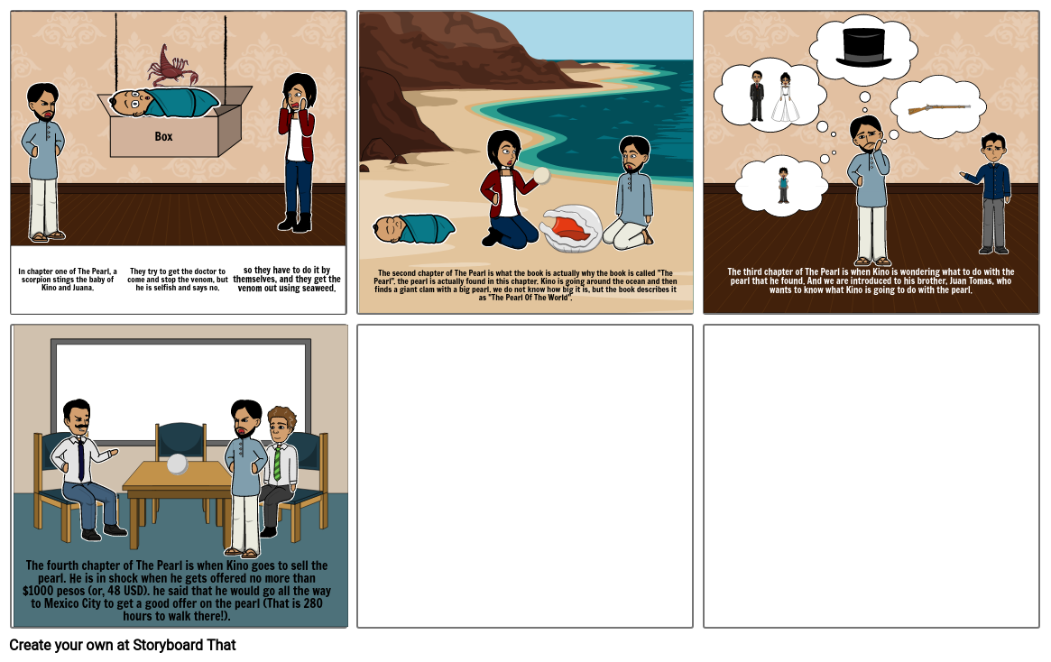 The Pearl Storyboard