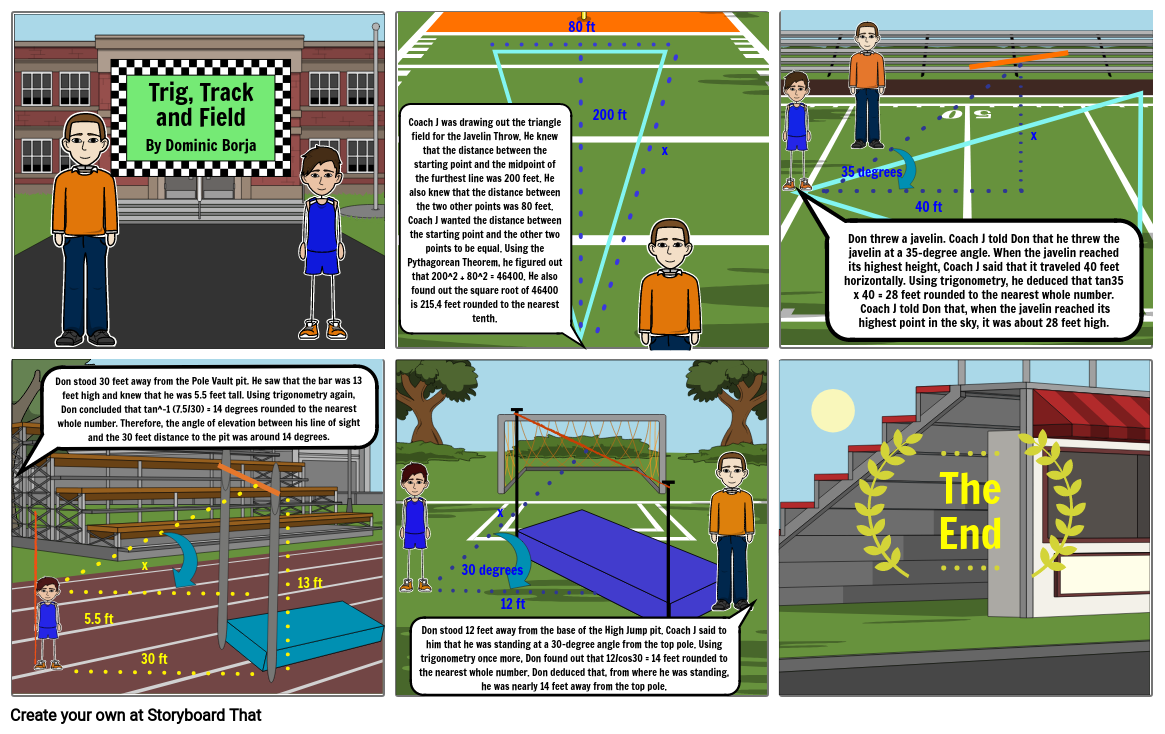 Honors Geometry Comic Strip Project