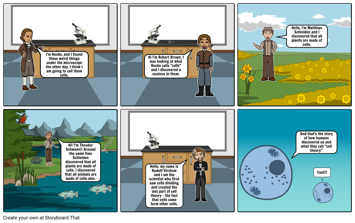 Science Cell Storyboard