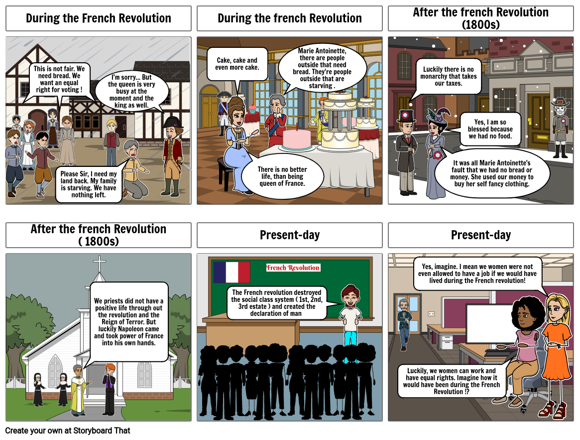 French Revolution ( How life changed because of the French Revolution )