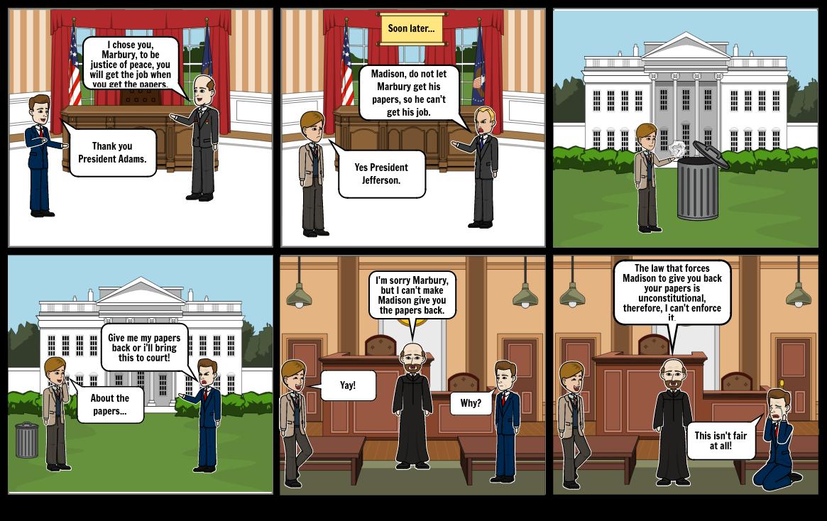 Marbury vs. Madison Court Case Comic