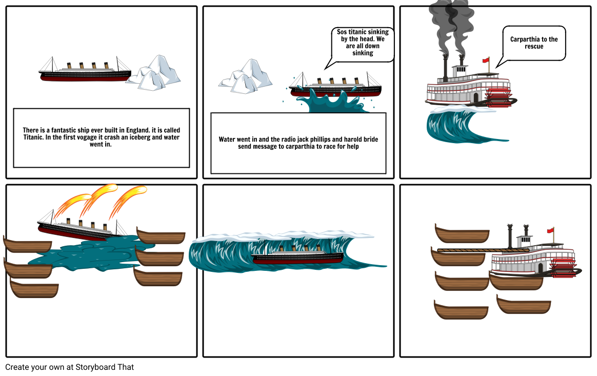 Titanic Story Storyboard By 200896245