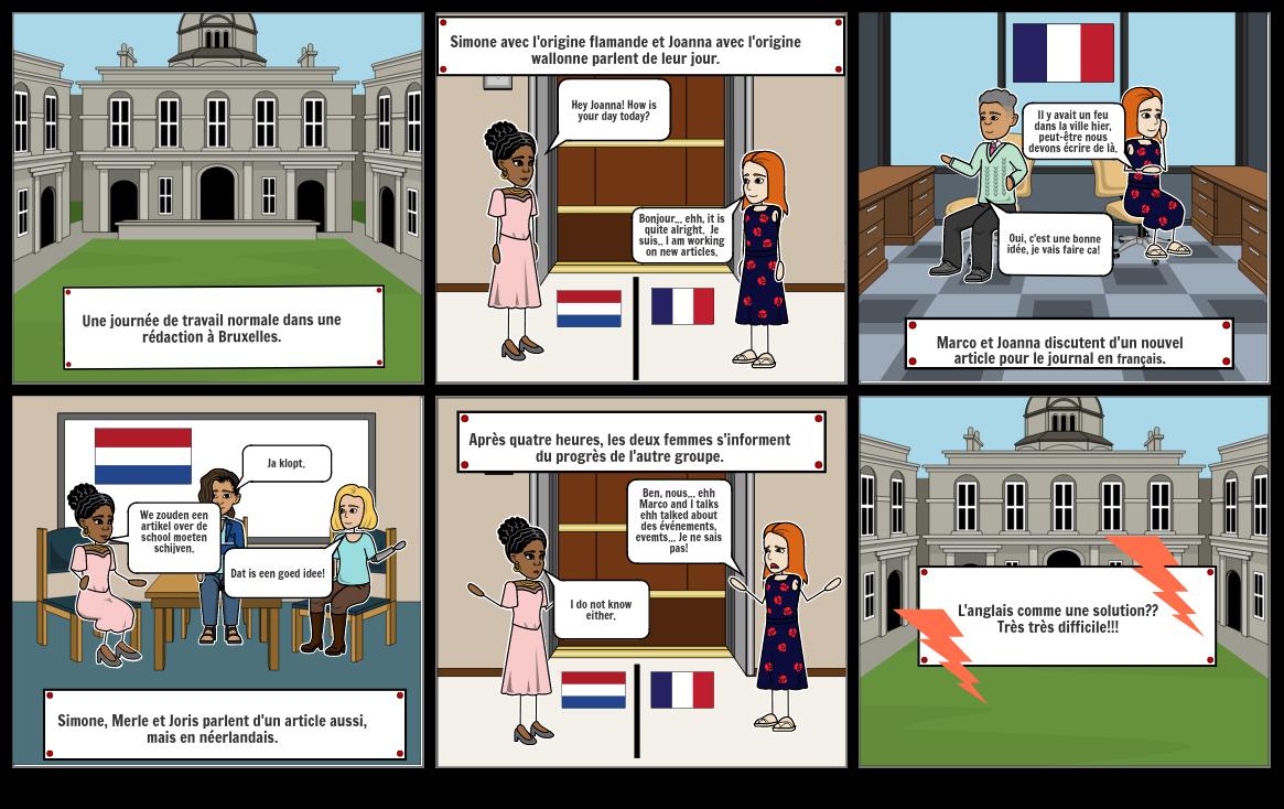 le conflit linguistique