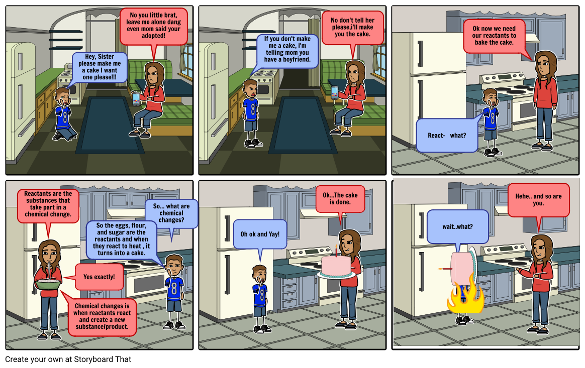 Chemical Changes comic strip