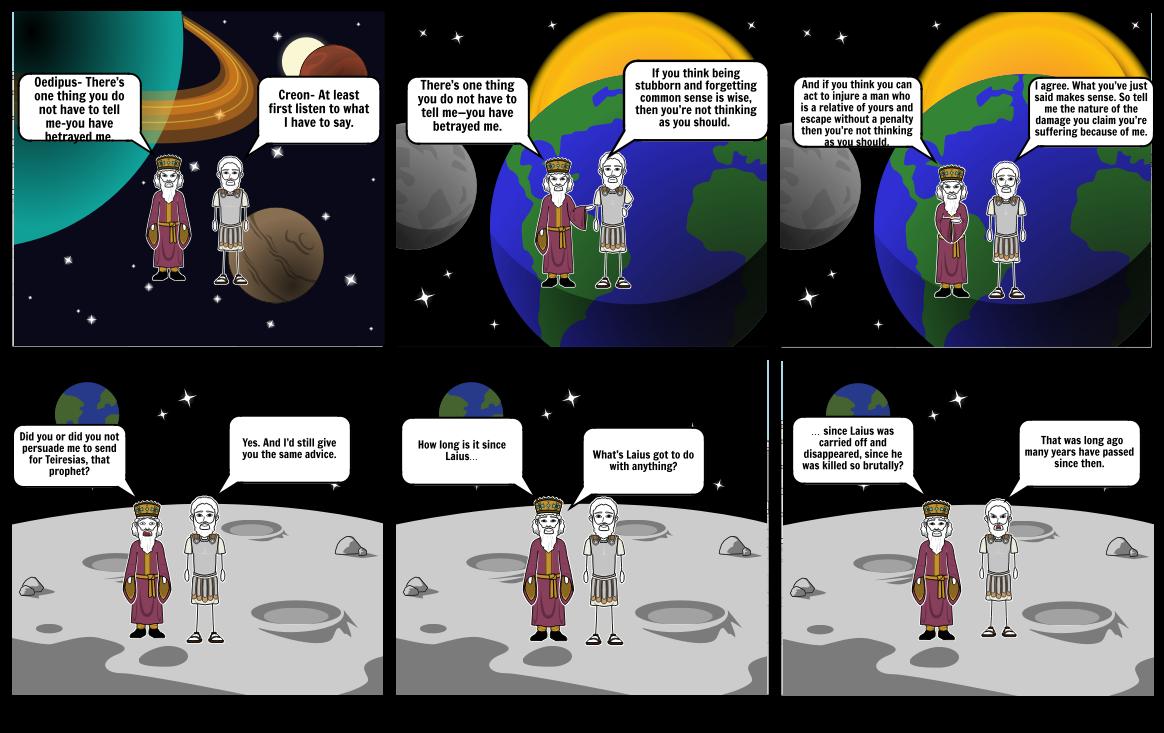 Oedipus on the Moon