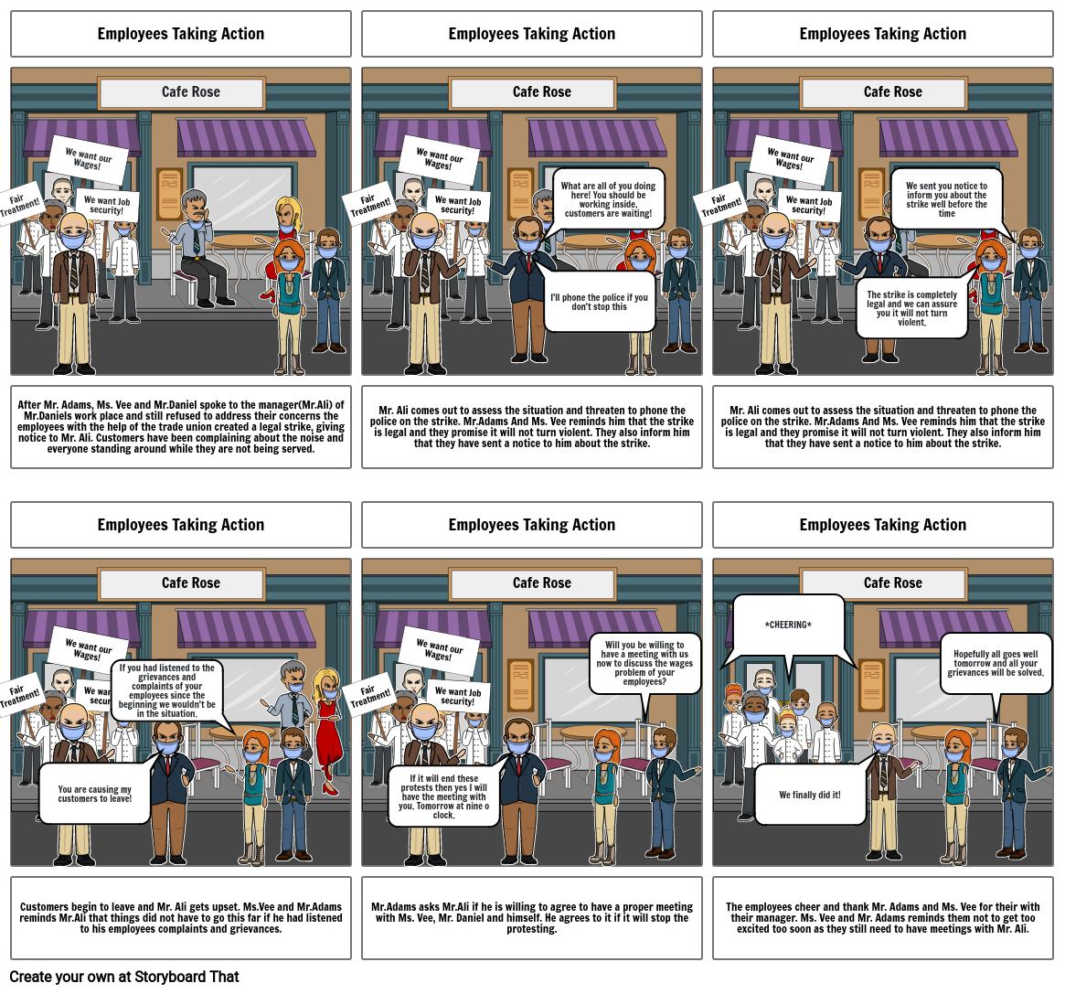 Storyboard 1: Trade unions and organisers  Part 2
