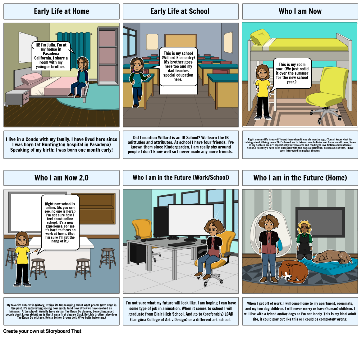 8H English Introduce Yourself Storyboard
