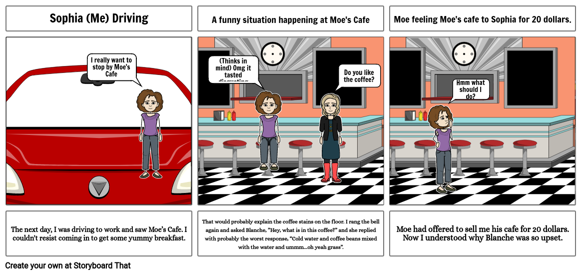 Moe's Cafe New StoryBoard