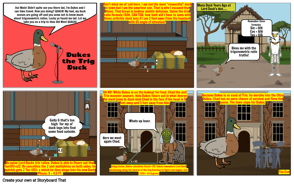 The Adventures of Dukes the Trig Duck