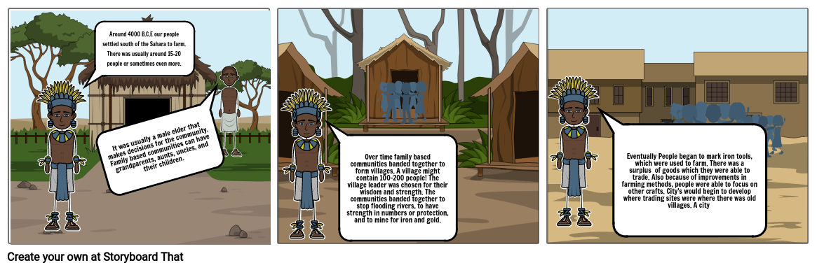 Africa Story Board