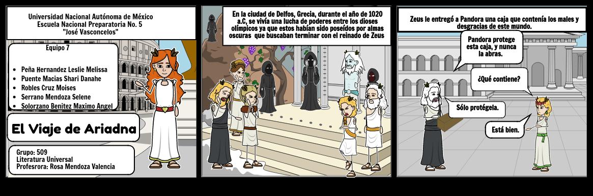Ariadna y su viaje