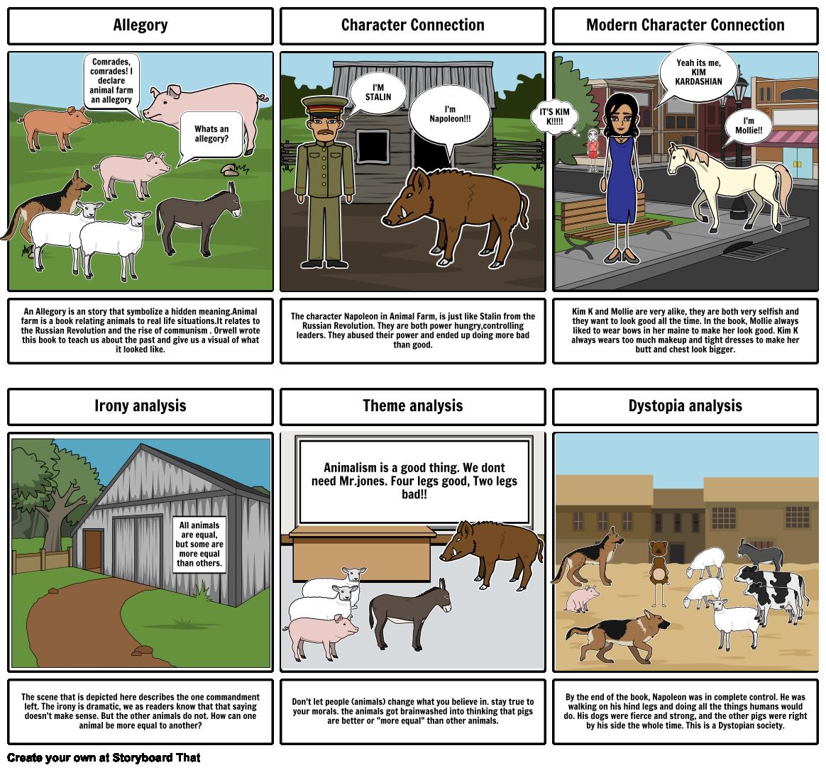 Allegory Comrades Comrades I Declare Animal Fa