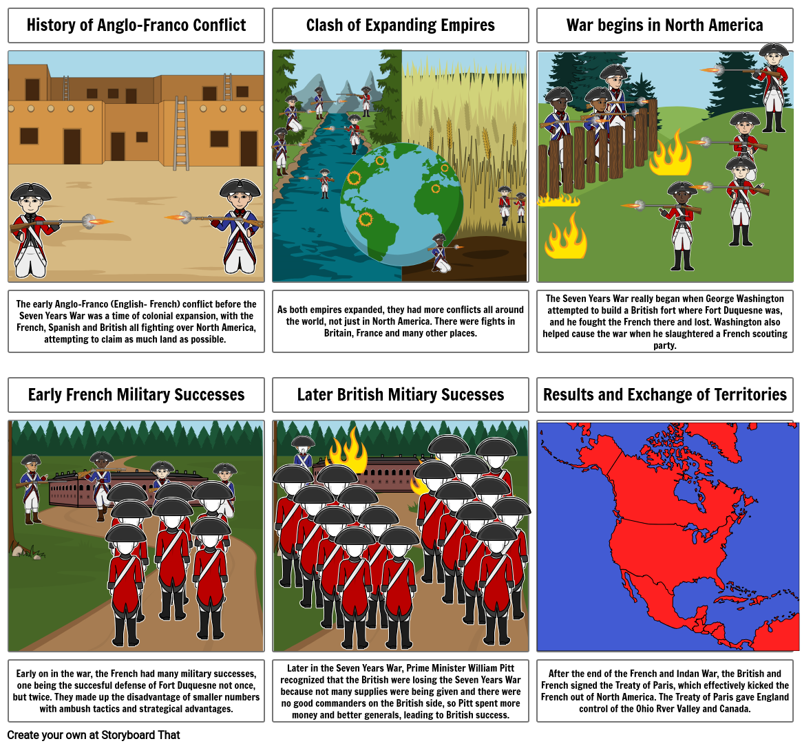 French and Indian War Comic Strip