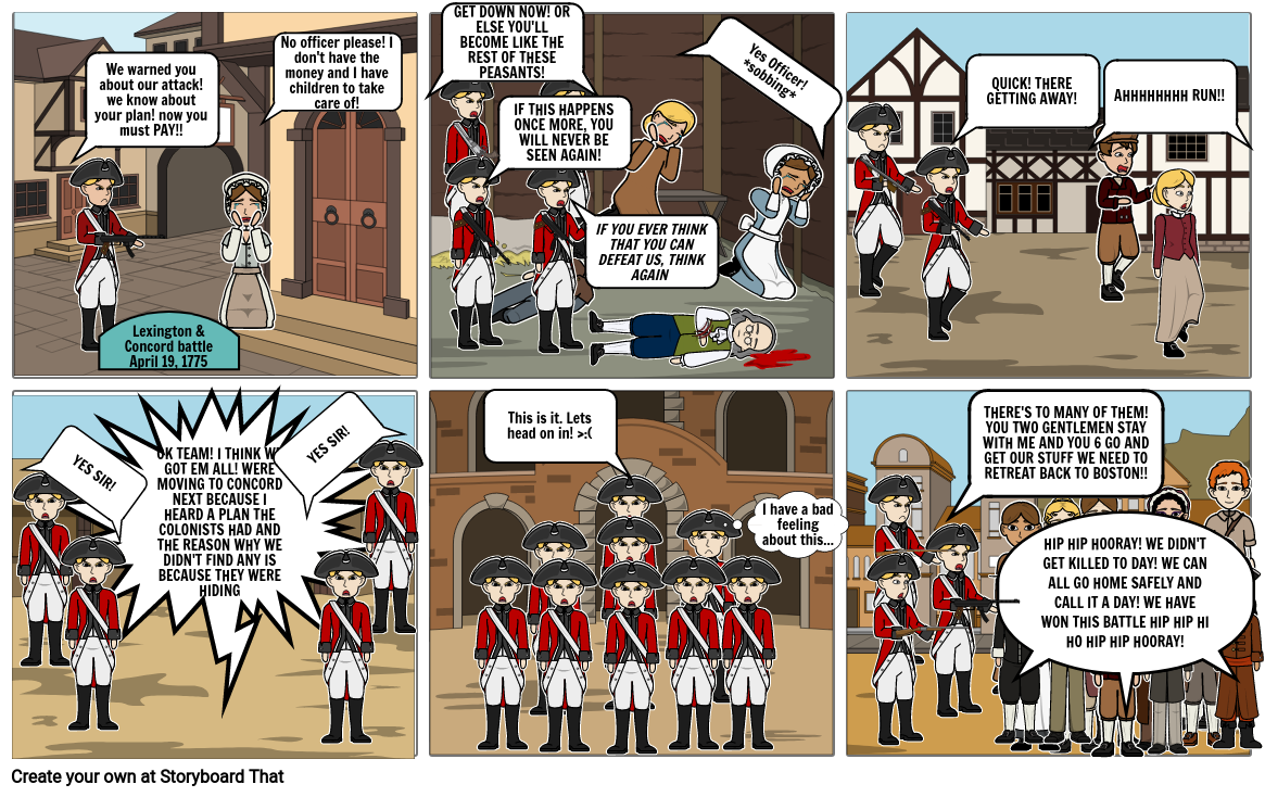The Lexington & Concord Battle