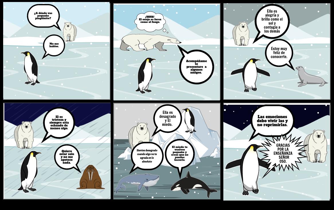 El pingúinito descubriendo sus emociones.