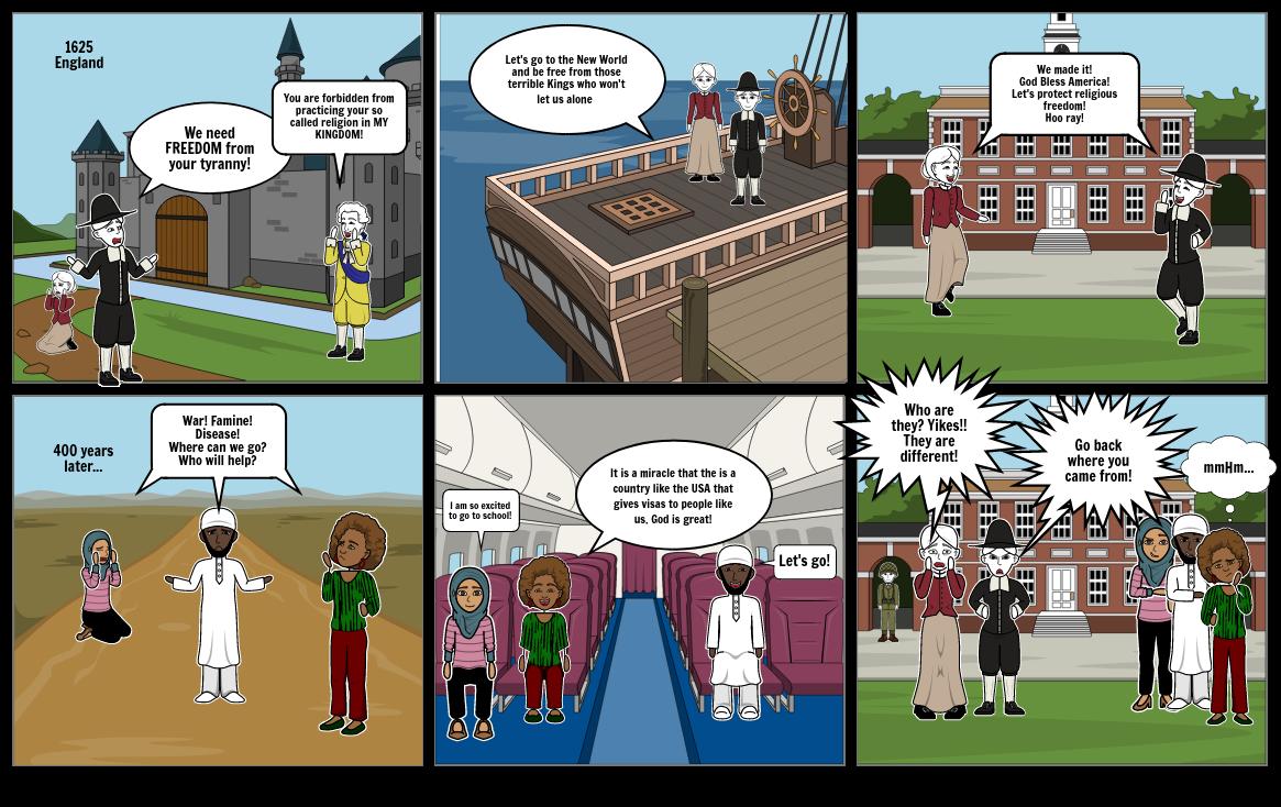 Political Cartoon Immigration