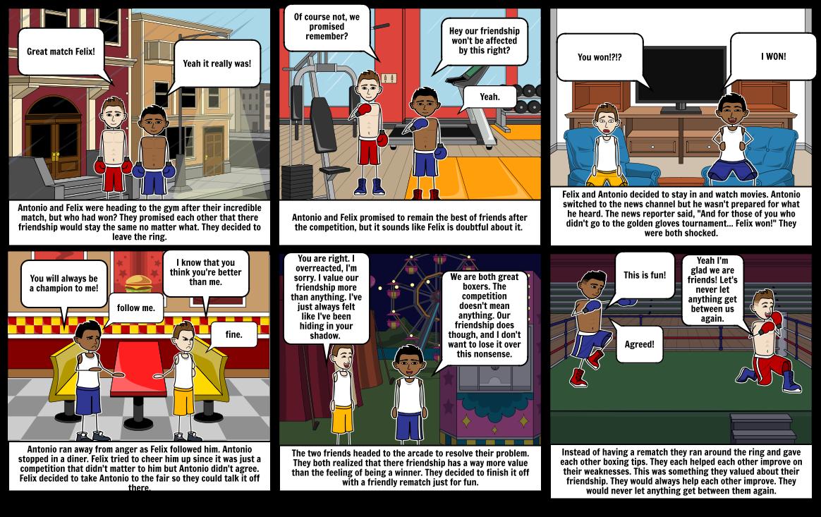 Amigo Brothers Storyboard