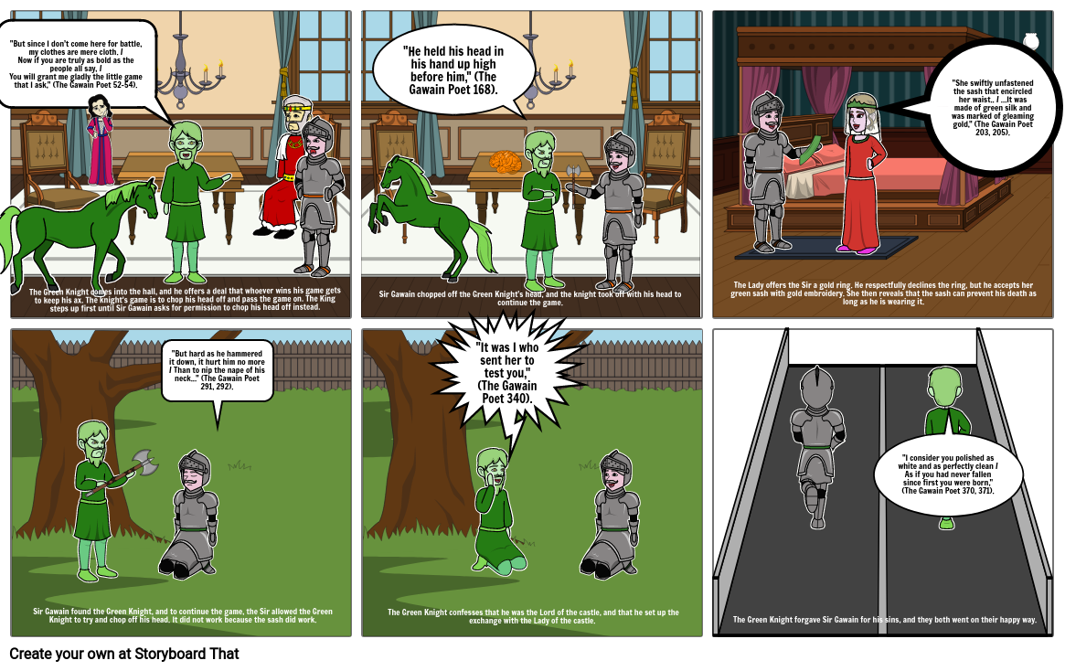 Sir Gawain and the Green Knight Storyboard