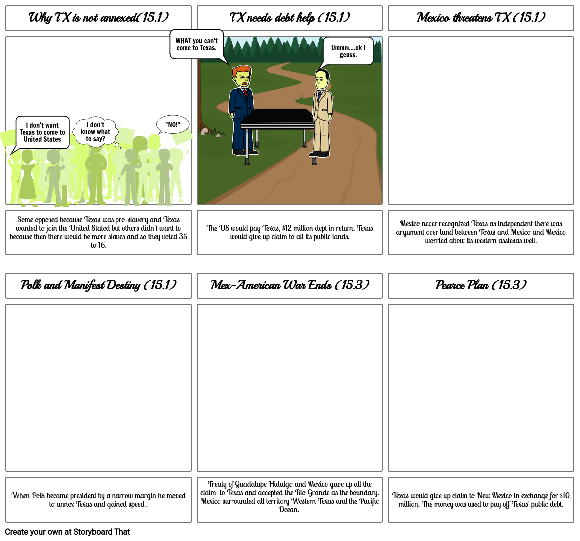 Texas Annexation Story Board