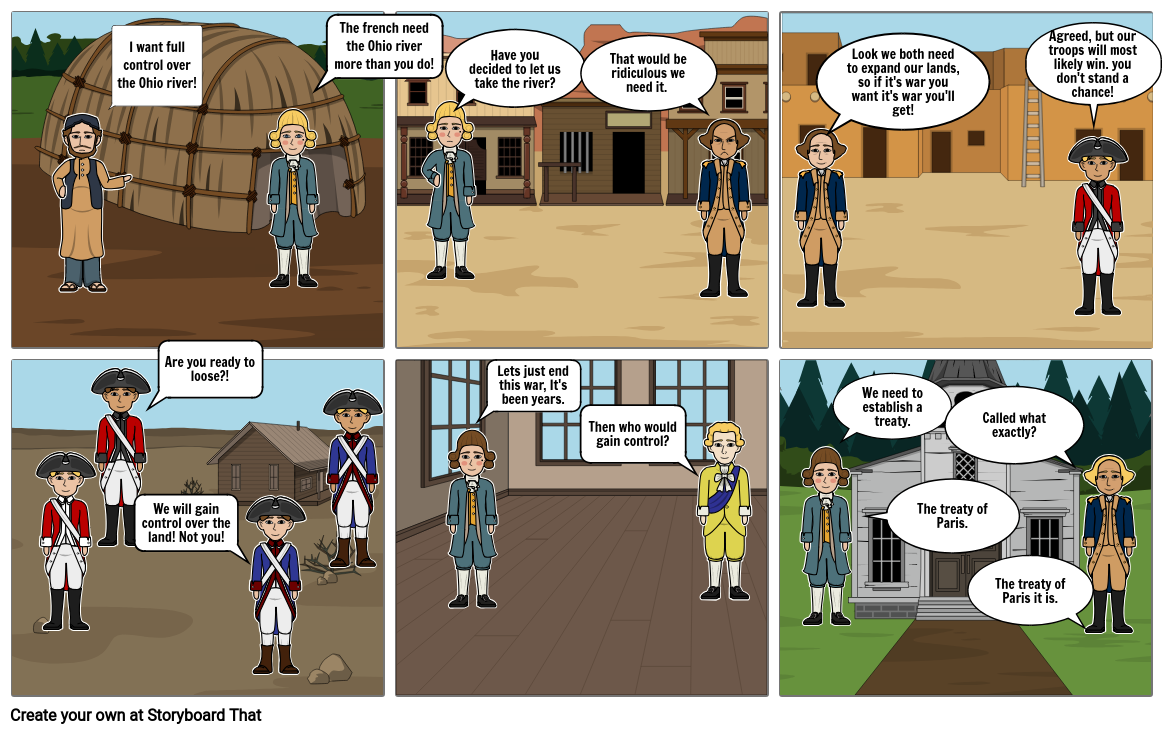 Story board/ french and Indian war
