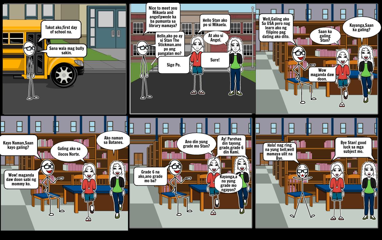 Stickman Goes to School