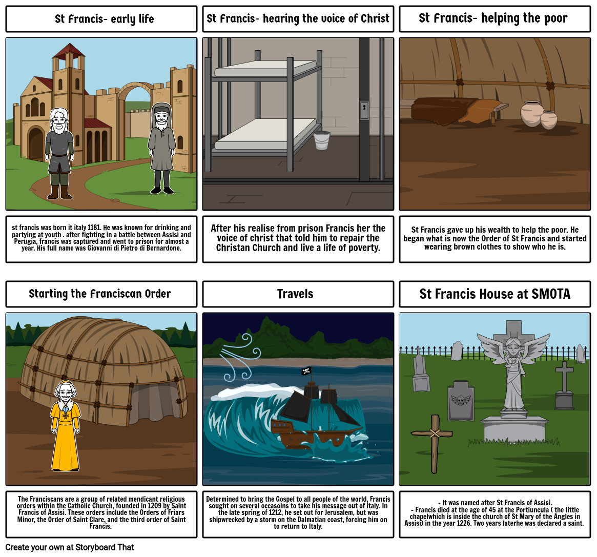 RE - ST FRANCIS STORYBOARD