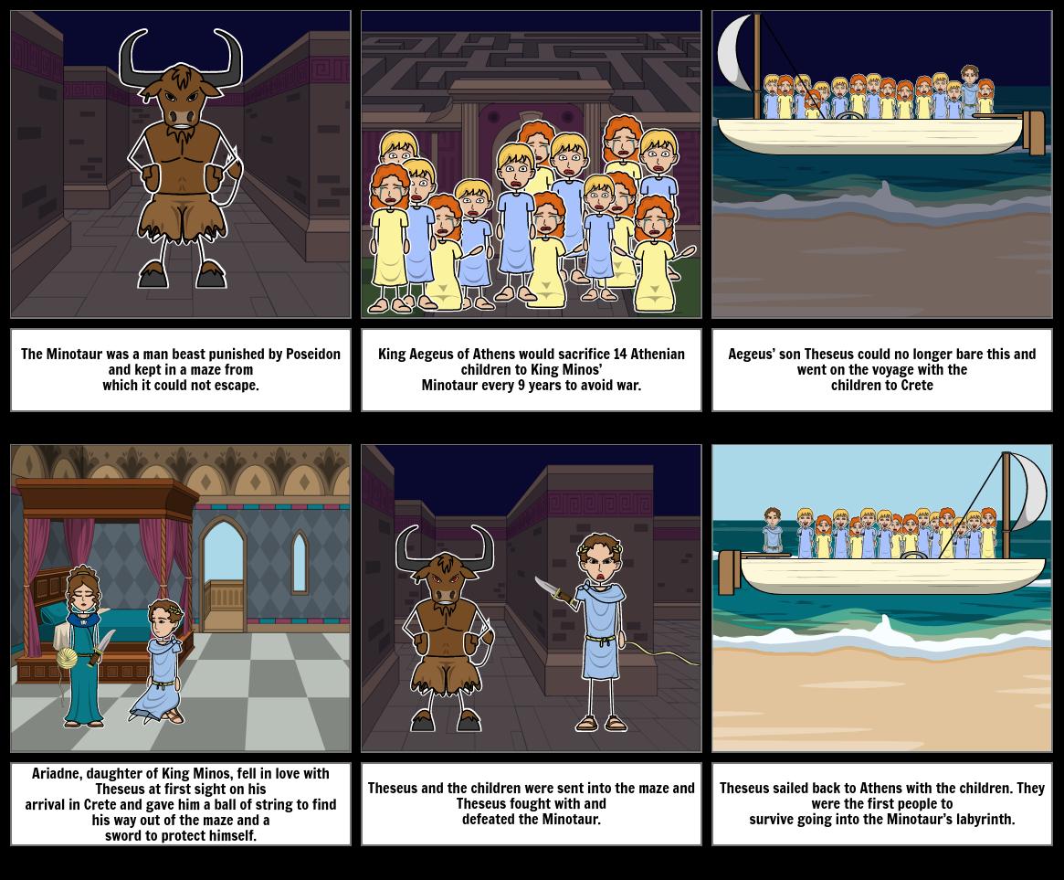 Minotaur Storyboard