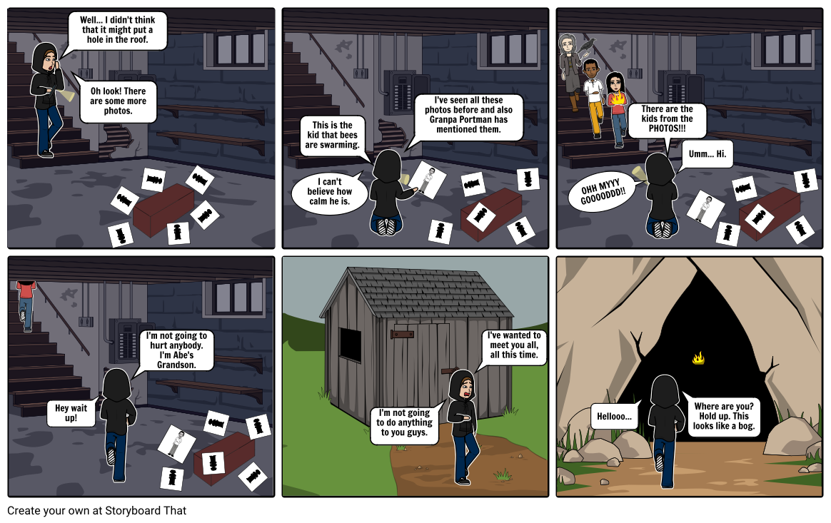 Miss Peregrine StoryBoard Proyect
