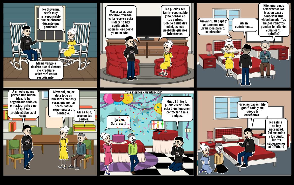 Actividad 6. Historieta sobre el coronavirus