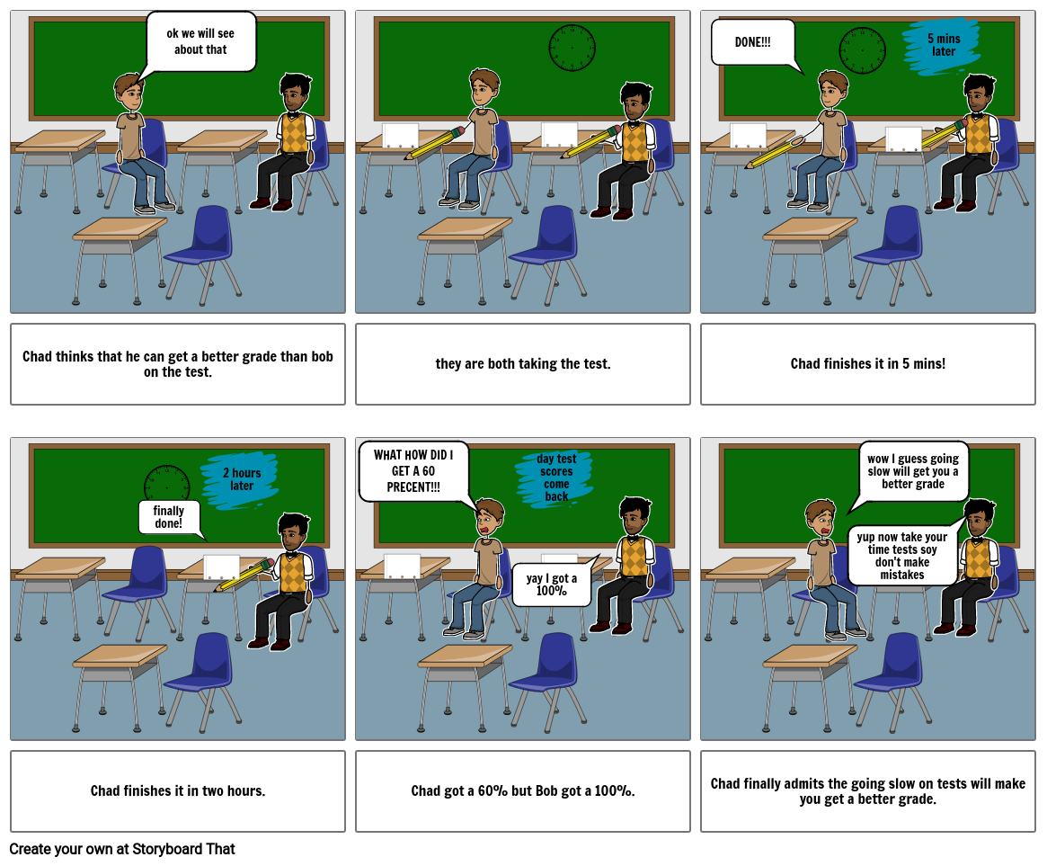 language arts comic other side of project