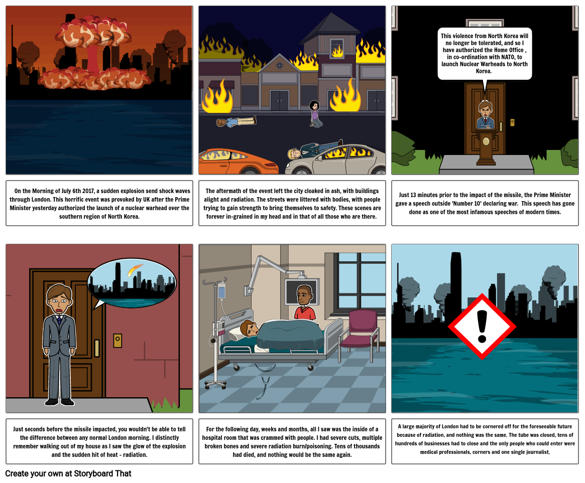 Citizenship Nuclear Aftermath Storyboard