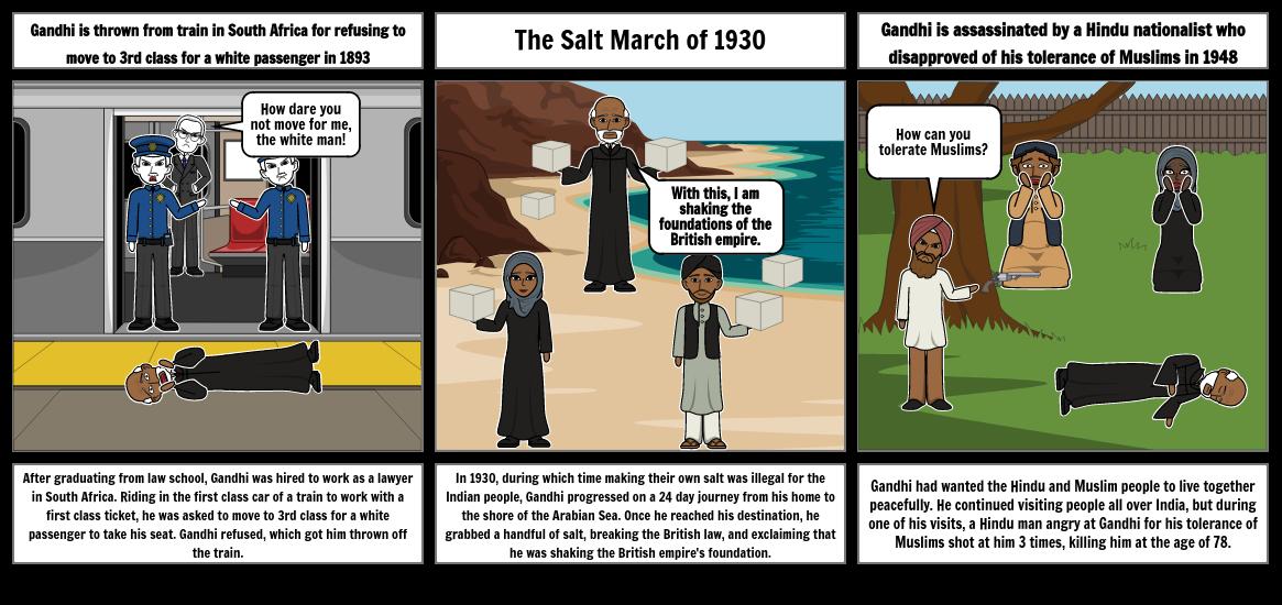 The Legend of Gandhi Storyboard