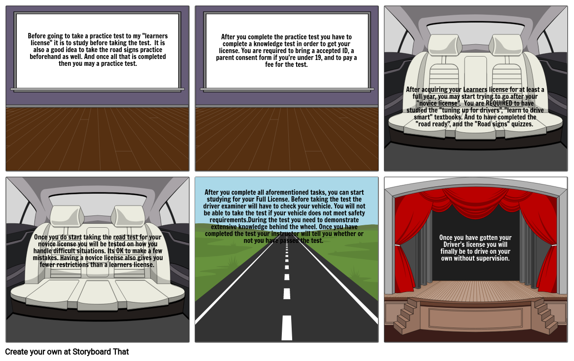 Driver Select Dallas >> Learning To Drive Dallas Wolf Storyboard By 2fdbeca1