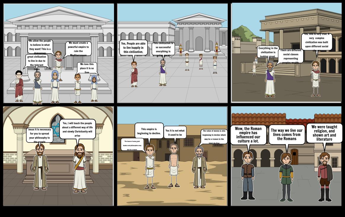 Rome story board