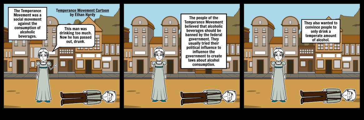 Temperance Movement Cartoon for Social Studies