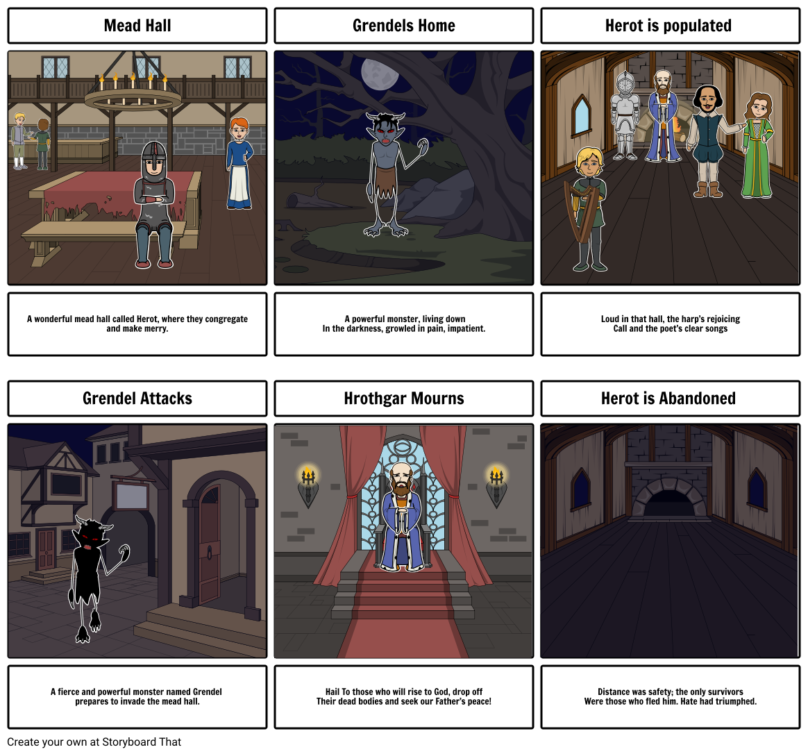 Grendel: story board summary 1