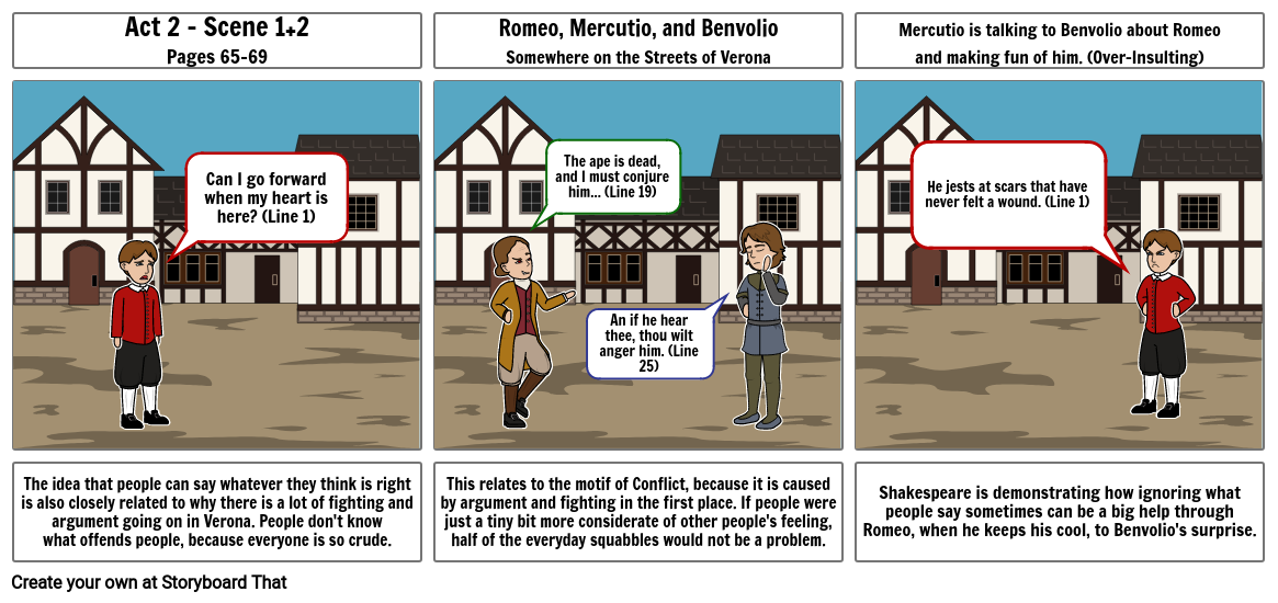 Romeo and Juliet Act 2 Storyboard 2