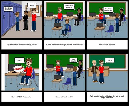 English Memory Storyboard