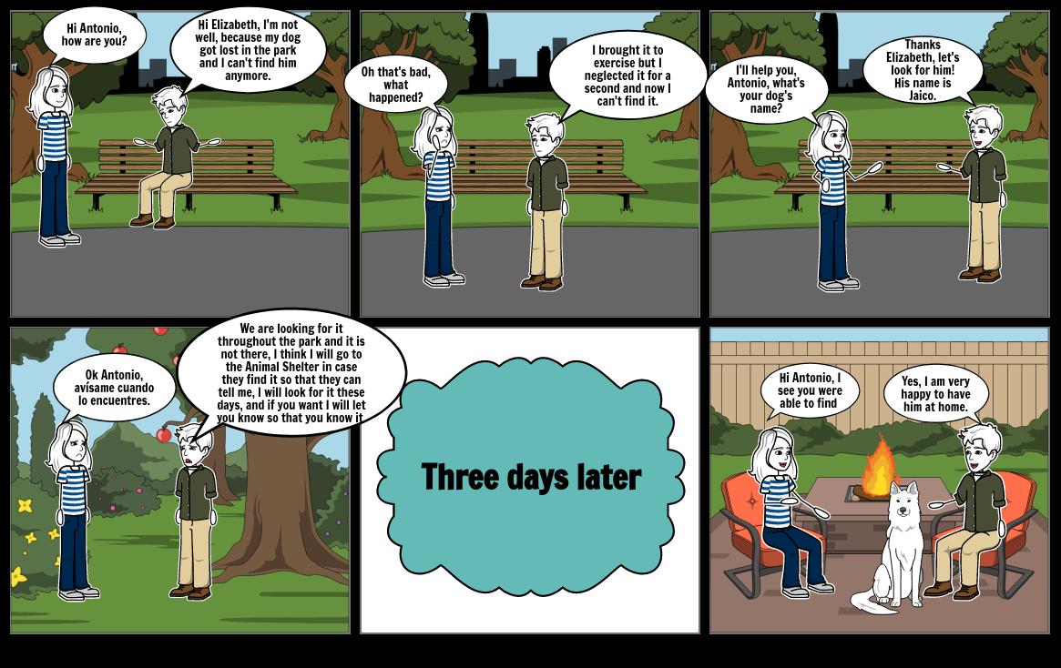 Comic para ingles basico 4