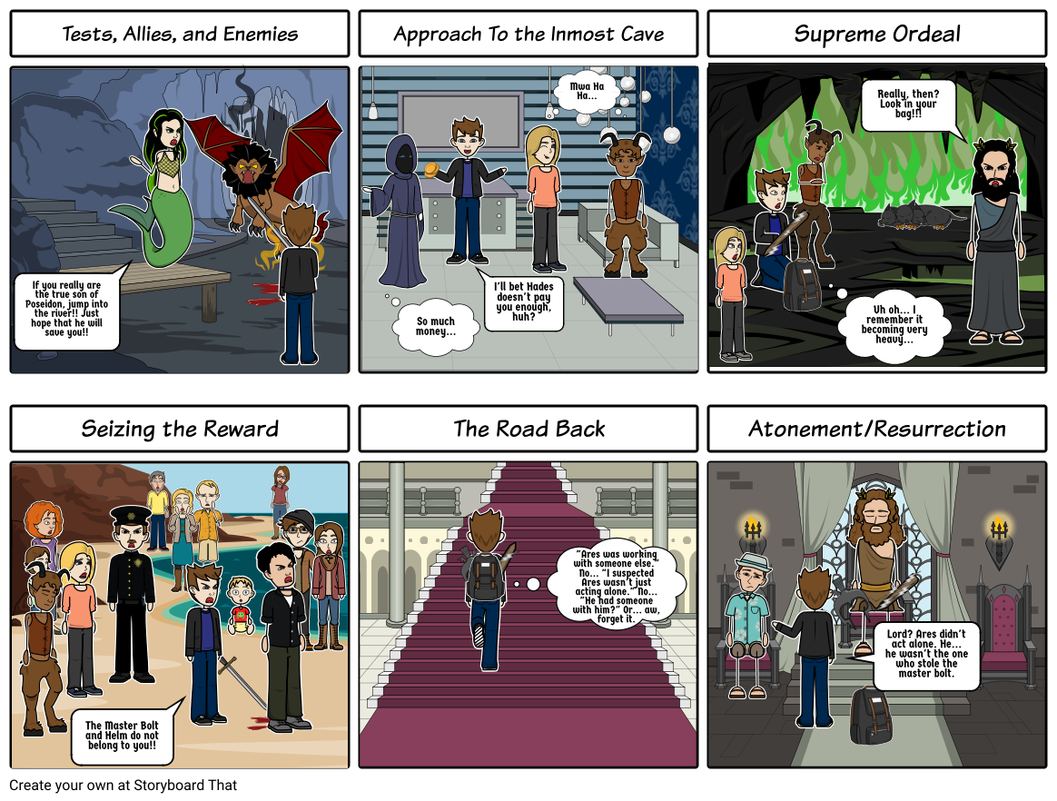 Percy Jackson- Stages 6-11 In the Hero's Journey