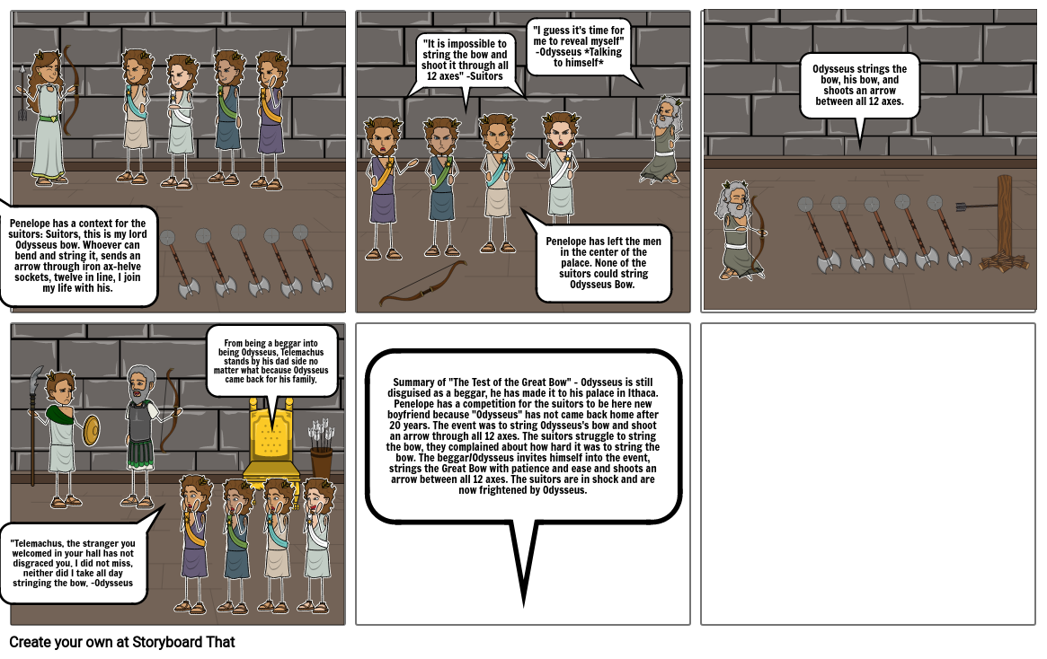Isaiah Crumpler's Storyboard about The Test of the Great Bow