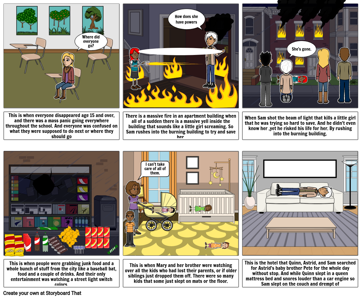 Comic Strip of the Book Gone
