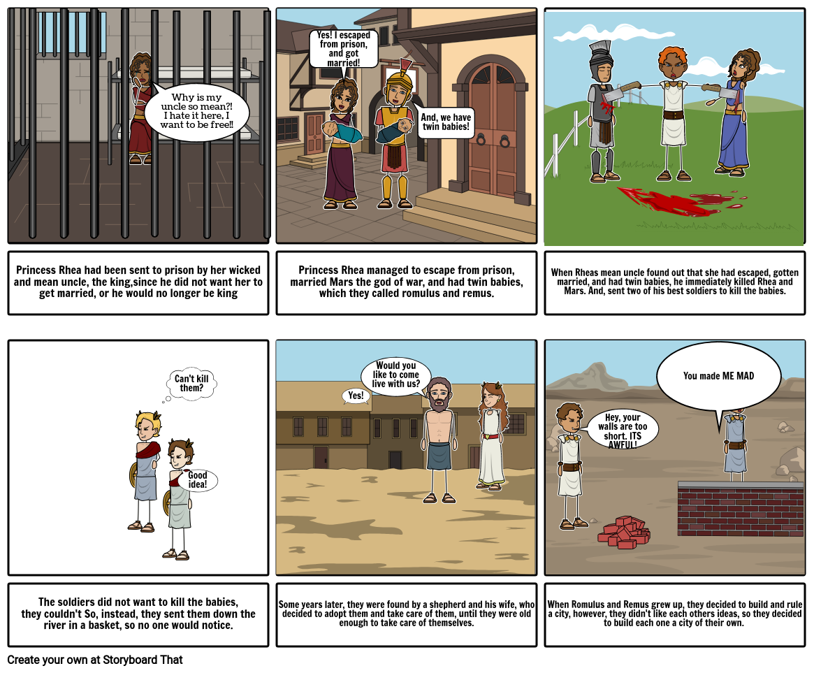 Romulus and Remus StoryBoard