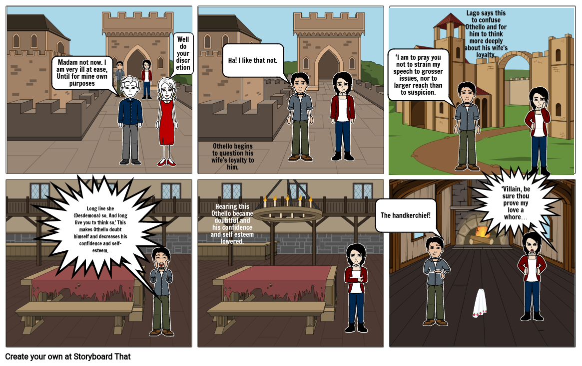 ENGL 245 Week 6 Assignment 1 lago Storyboard