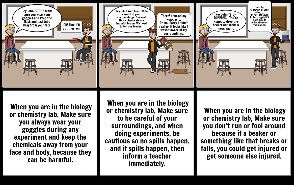 Biology Lab Safety Cartoon
