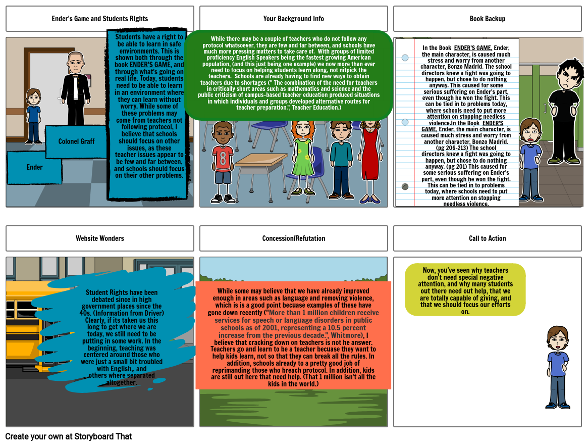 Storyboard Thesis Question Assignment
