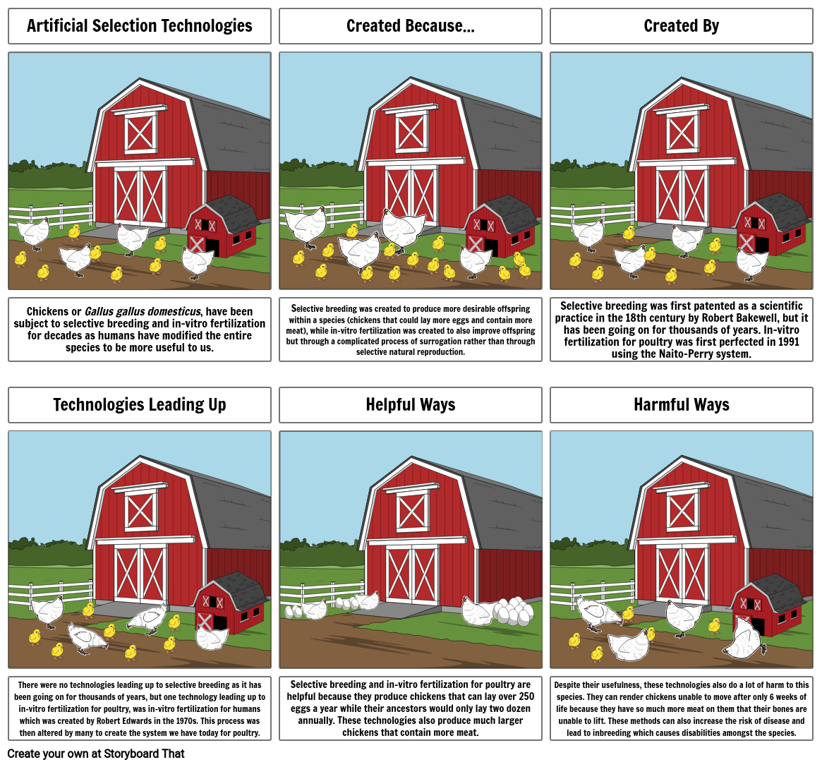 Artificial Selection Storyboard Project