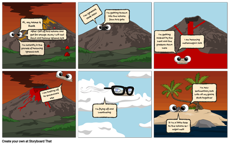 Rock cycle toryboard